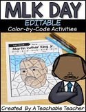 Martin Luther King Activities | MLK Editable Color by Code
