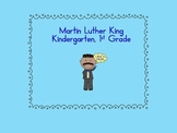 Martin Luther King Activities - kindergarten, 1st grade