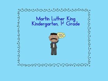 Martin Luther King Activities - kindergarten, 1st grade