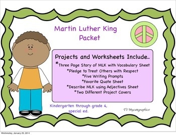 Martin Luther King Activity Pack