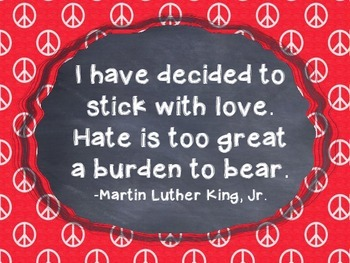 Martin Luther King Activity Packet: Quotes and Thinking Activities