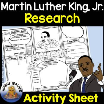 Martin Luther King, Jr. Activity Sheet
