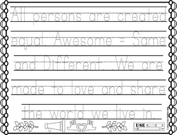 Martin Luther King Activity Sheets