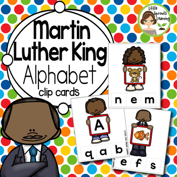 Martin Luther King Alphabet  Clip cards (Sound and Letter Recognition)