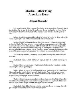 Martin Luther King - American Hero