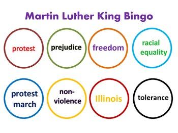 Martin Luther King Bingo