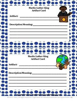 Martin Luther King Bio-Box Research Project for Gifted/ Enrichment