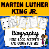Martin Luther King Jr. Biography Mini Book and Quote Posters