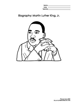 Martin Luther King Biography and Reading Activities