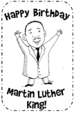 Martin Luther King Birthday Card
