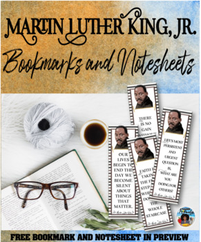 Martin Luther King Bookmarks with Quotes Set
