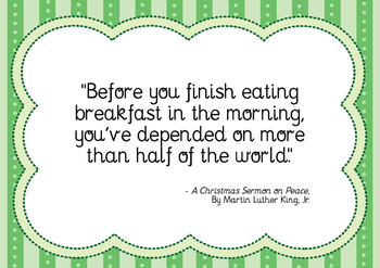 Martin Luther King - Breakfast Quote
