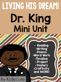Dr. King Unit- Reading - Writing- Word Work-Timeline and More!