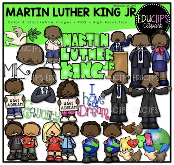 Martin Luther King Clip Art Bundle {Educlips Clipart}