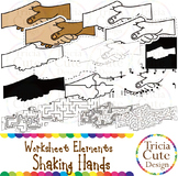Martin Luther King Clip Art MLK Day Black History Month Shaking Hands