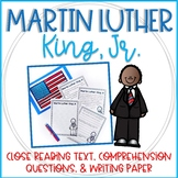 Martin Luther King Close Reading Text, Comprehension Quest