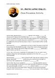 Martin Luther King - Cloze Procedure Activity