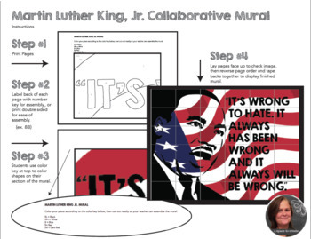 Martin Luther King Collaborative Poster - Black History Month Art Activity