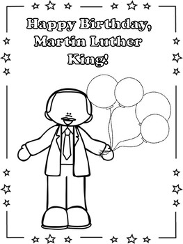 Martin Luther King Coloirng Pages