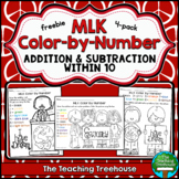 MLK Color by Number ~ Addition & Subtraction Within 10 #kindnessnation