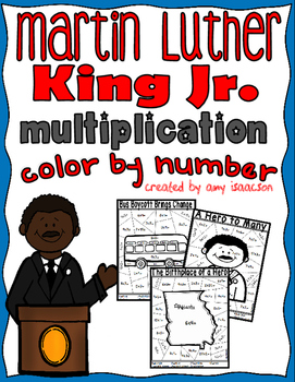 Martin Luther King Color by Number Multiplication
