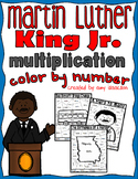 Martin Luther King Jr. Multiplication Color by Number