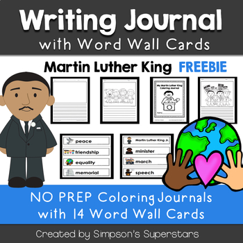 Martin Luther King Writing Journal with Word Wall Cards FREEBIE