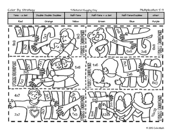 Martin Luther King Coloring Page- By Multiplication Fact Strategies!