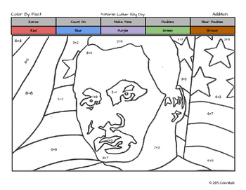 Martin Luther King Coloring Page - by Addition Fact Strategies!