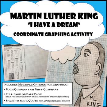 Martin Luther King Jr Coordinate Graphing (MLK Math)