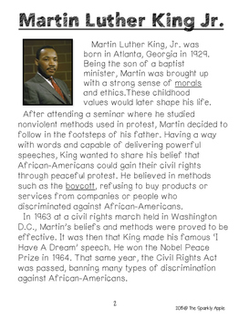 Martin Luther King & Coretta Scott (Close Reading & Writing Unit)