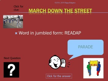 Martin Luther King Day PowerPoint Game - Word Scramble