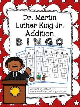 Martin Luther King Day Addition BINGO