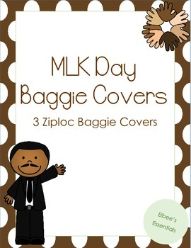 Martin Luther King Day Baggie Cover