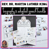 Martin Luther King Day Bundle for Speech Therapy or Special Education