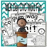 Martin Luther King Day CVC Word Fun