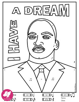 martin luther king day coloring pictures – coursity.me | 350x271