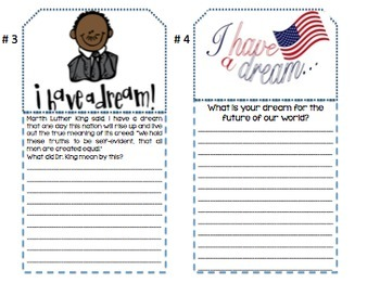 Martin Luther King Day Craftivity-January Activities-Elementary Version
