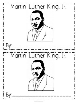 Martin Luther King Day Emergent Reader