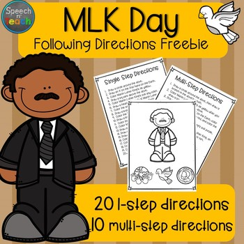Martin Luther King Day Following Directions FREEBIE!
