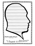 Martin Luther King Day Lined Writing Paper