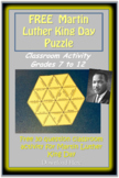 Martin Luther King Day (MLK) Puzzle