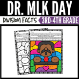 Martin Luther King Day Math Division Color by Number Worksheets
