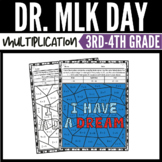 Martin Luther King Day Math Multiplication Color by Number Worksheets Vol. 2