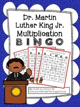 Martin Luther King Day Multiplication BINGO