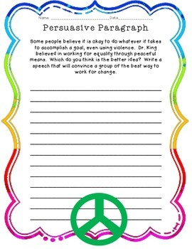 Martin Luther King Day: Paragraph Writing