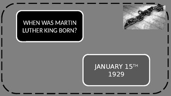 Martin Luther King Day - Quiz, Discussion and Poetry