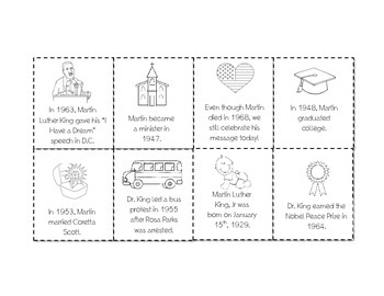Martin Luther King Day Sequence Timeline Print and Go!