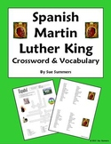 Spanish Martin Luther King Day Vocabulary Crossword Puzzle and Word List - MLK