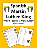 Spanish Martin Luther King Day Word Search, Vocabulary, and Image IDs